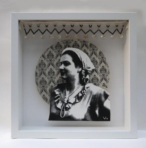 serigrafia, collage, cristales, grabado